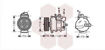 Klimakompressor VAN WEZEL 0300K274
