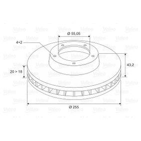 186766 Bremsscheiben VALEO 186766 - Große Auswahl - stark reduziert