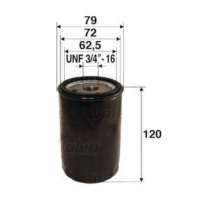 586029 VALEO Anschraubfilter Innendurchmesser 2: 72mm, Innendurchmesser 2: 62,5mm, Ø: 79mm, Höhe: 120mm Ölfilter 586029 günstig kaufen