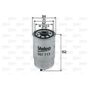 buy and replace Fuel filter VALEO 587713