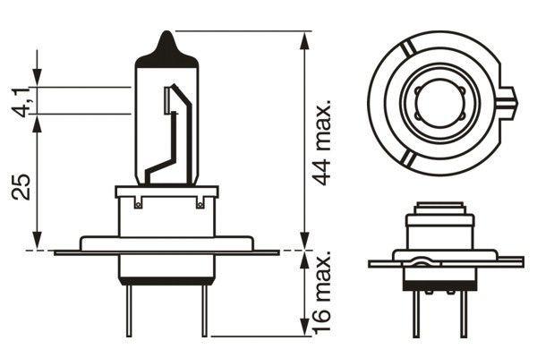 BOSCH | Крушка с нагреваема жичка, фар за дълги светлини 1 987 301 012