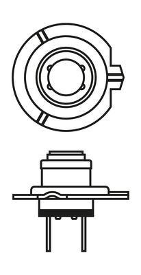 1987301012 Крушка с нагреваема жичка, фар за дълги светлини Pure Light BL BOSCH 12V55WH7PURELIGHT - Голям избор — голямо намалание