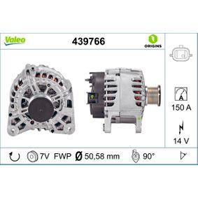 439766 VALEO 14V, 150A, mit integriertem Regler, NEW ORIGINAL PART Rippenanzahl: 7 Generator 439766 günstig kaufen