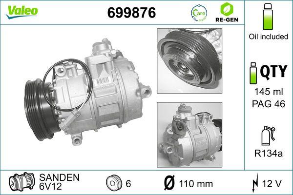 Kompressor VALEO 699876