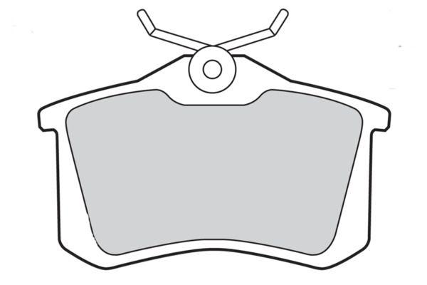 Bremsbelagsatz, Scheibenbremse 598463 von VALEO