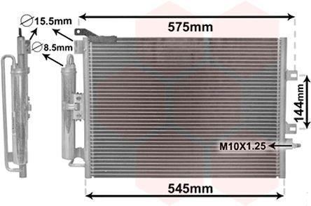 RENAULT MODUS / GRAND MODUS 2016 Klimakondensator - Original VAN WEZEL 43005395