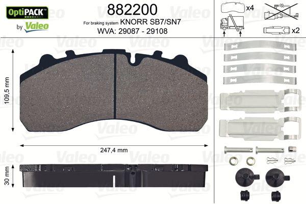 882200 VALEO Bremsbelagsatz, Scheibenbremse für DAF CF 85 jetzt kaufen