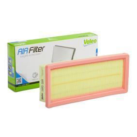 585081 VALEO Länge: 282mm, Breite: 123mm, Höhe: 48mm Luftfilter 585081 günstig kaufen