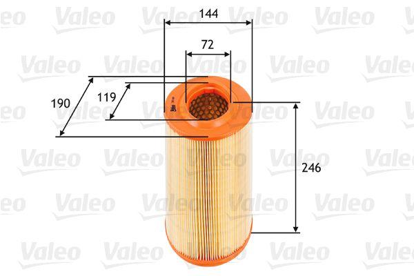 Zracni filter 585669 z izjemnim razmerjem med VALEO ceno in zmogljivostjo