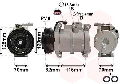 OE Original Klimakompressor 0700K109 VAN WEZEL
