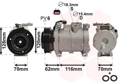 Original LAND ROVER Kompressor Klimaanlage 0700K109