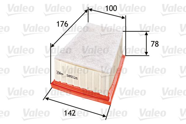 Oro filtras 585026 su puikiu VALEO kainos/kokybės santykiu