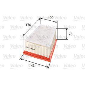 585026 VALEO mit Vorfilter Länge: 176mm, Breite 1: 142mm, Breite 2: 100mm, Höhe: 78mm Luftfilter 585026 günstig kaufen