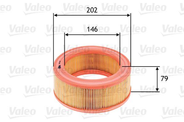 Achetez Filtre à air VALEO 585642 (Hauteur: 79mm) à un rapport qualité-prix exceptionnel
