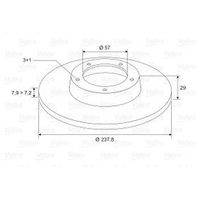 186130 Bremsscheiben VALEO 186130 - Große Auswahl - stark reduziert