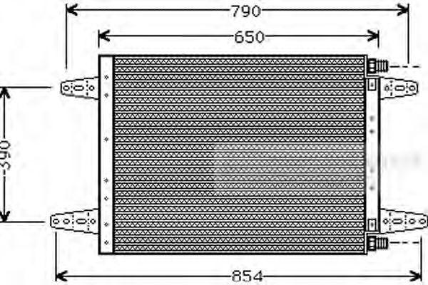 46005007 VAN WEZEL Kondensor, klimatanläggning: köp dem billigt