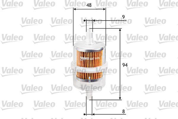 587013 VALEO Leitungsfilter Höhe: 94mm Kraftstofffilter 587013 günstig kaufen