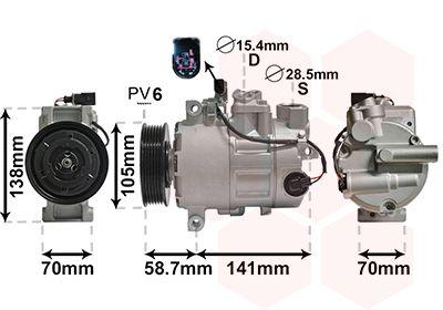 VAN WEZEL Klimakompressor 0300K279