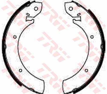 Original MERCEDES-BENZ Bremsbacken für Trommelbremse GS6250
