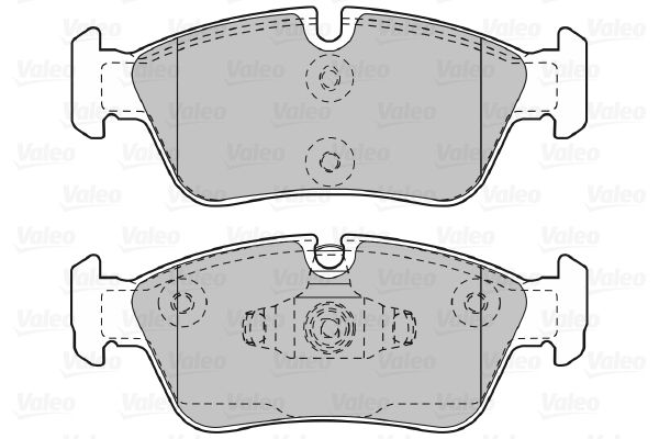 598700 Bremssteine VALEO in Original Qualität
