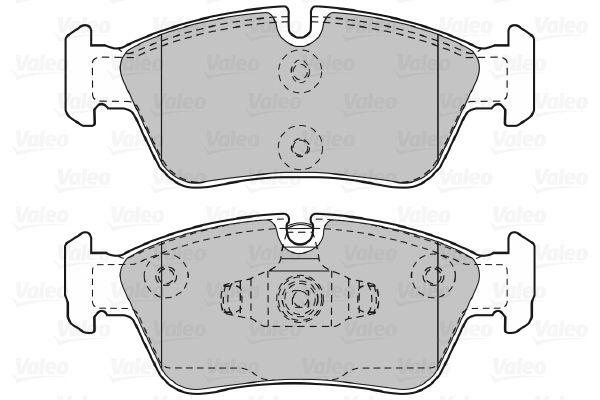 598700 Bremsbelagsatz, Scheibenbremse VALEO Test