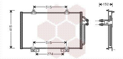 Original RENAULT Kondensator Klimaanlage 43005188