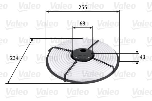 Zracni filter 585704 z izjemnim razmerjem med VALEO ceno in zmogljivostjo