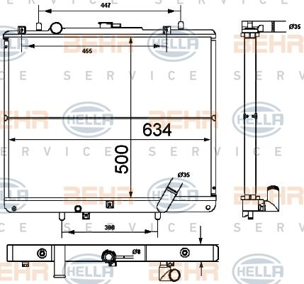 HELLA Kühler, Motorkühlung 8MK 376 787-111