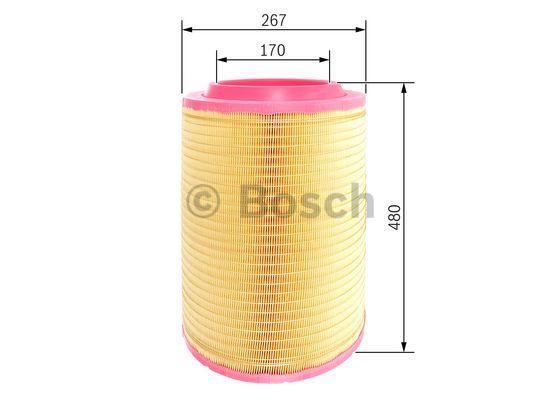 BOSCH Luftfilter für DAF - Artikelnummer: F 026 400 247