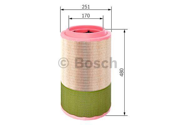 F 026 400 257 BOSCH Luftfilter für FORD online bestellen
