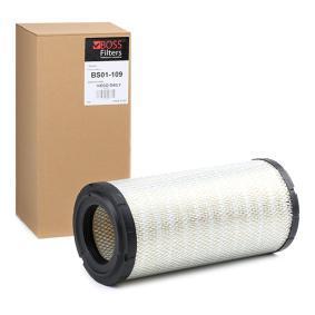 Αγοράστε BS01-109 BOSS FILTERS Στοιχείο φίλτρου Ύψος: 350mm Φίλτρο αέρα BS01-109 Σε χαμηλή τιμή