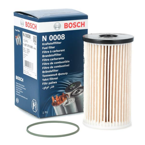 VW PASSAT 2014 Kraftstofffilter - Original BOSCH 1 457 070 008 Höhe: 136,1mm