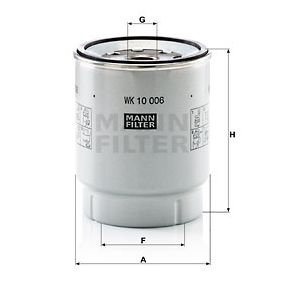 MANN-FILTER Kuro filtras WK 10 006 z įsigyti su 33%