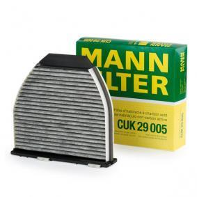 CUK 29 005 MANN-FILTER Charcoal Filter Width: 284mm, Height: 44mm, Length: 264mm Filter, interior air CUK 29 005 cheap