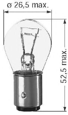 Lampadina luce posteriore di stop 0500312211 BERU — Solo ricambi nuovi