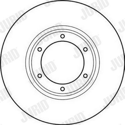 Achetez Disque de frein JURID 561043JC (Ø: 228mm, Nbre de trous: 6, Épaisseur du disque de frein: 10mm) à un rapport qualité-prix exceptionnel