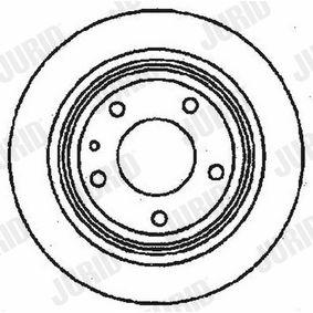 561162 JURID Voll, mit Schrauben Ø: 284mm, Lochanzahl: 5, Bremsscheibendicke: 10mm Bremsscheibe 561162J günstig kaufen