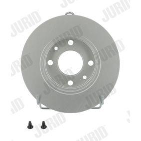 561235 JURID Voll, beschichtet, mit Schrauben Ø: 238mm, Lochanzahl: 4, Bremsscheibendicke: 12mm Bremsscheibe 561235JC günstig kaufen
