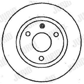 561359 JURID Voll, beschichtet, mit Schrauben Ø: 238mm, Lochanzahl: 3, Bremsscheibendicke: 8mm Bremsscheibe 561359JC günstig kaufen