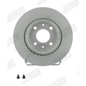 561997 JURID belüftet, beschichtet, mit Schrauben Ø: 259mm, Lochanzahl: 4, Bremsscheibendicke: 20,6mm Bremsscheibe 561997JC günstig kaufen