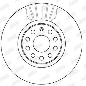 562387 JURID ventilado, revestido, con tornillos Ø: 312mm, Núm. orificios: 5, Espesor disco freno: 25mm Disco de freno 562387JC a buen precio