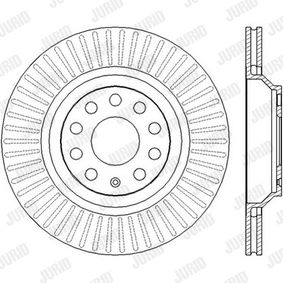 562432 JURID Vented, with screws Ø: 310mm, Num. of holes: 5, Brake Disc Thickness: 22mm Brake Disc 562432J cheap