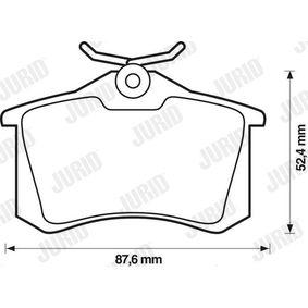 571906D Bremsbelagsatz, Scheibenbremse JURID 20961 - Große Auswahl - stark reduziert