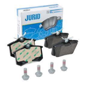 571906 JURID nicht für Verschleißwarnanzeiger vorbereitet, mit Zubehör Höhe 1: 53mm, Dicke/Stärke: 17mm Bremsbelagsatz, Scheibenbremse 571906J günstig kaufen