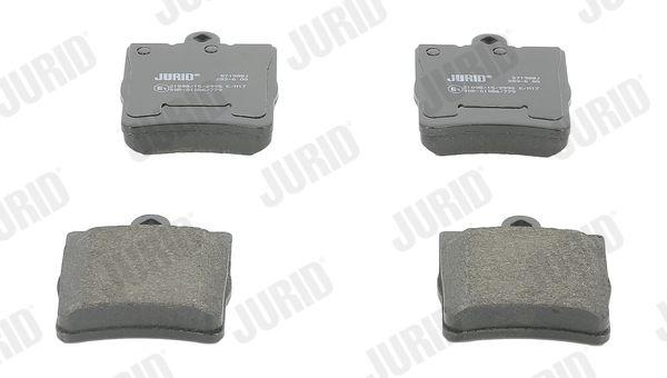 571988 JURID für Verschleißwarnanzeiger vorbereitet, ohne Zubehör Höhe 1: 78mm, Dicke/Stärke: 15,5mm Bremsbelagsatz, Scheibenbremse 571988J günstig kaufen