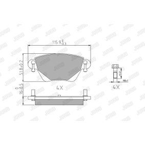 573012J Bremsbelagsatz, Scheibenbremse JURID 23557 - Große Auswahl - stark reduziert