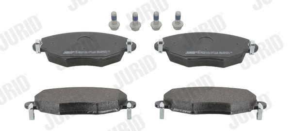 573013 JURID nicht für Verschleißwarnanzeiger vorbereitet, ohne Zubehör Höhe 1: 61mm, Dicke/Stärke: 18,3mm Bremsbelagsatz, Scheibenbremse 573013J günstig kaufen