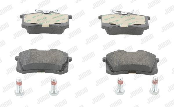 573032 JURID nicht für Verschleißwarnanzeiger vorbereitet, mit Zubehör Höhe 1: 53mm, Dicke/Stärke: 17mm Bremsbelagsatz, Scheibenbremse 573032J günstig kaufen