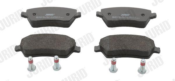 573125 JURID nicht für Verschleißwarnanzeiger vorbereitet, mit Zubehör Höhe 1: 52mm, Dicke/Stärke: 16,8mm Bremsbelagsatz, Scheibenbremse 573125J günstig kaufen