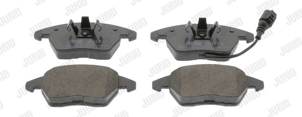 573128JC JURID Jurid White Low Dust, včetně uzavíracího výstražného kontaktu Výška 1: 66mm, Výška 2: 66mm, Tloušťka/síla: 20mm Sada brzdových destiček, kotoučová brzda 573128JC kupte si levně